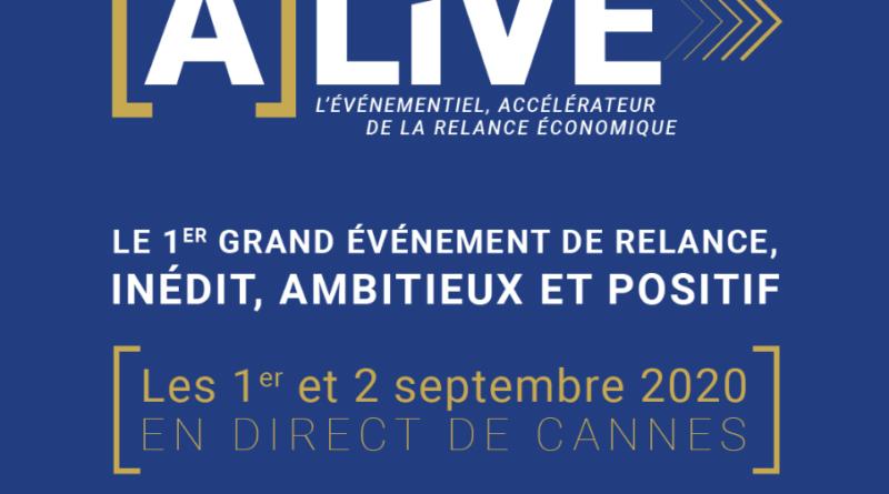 [A]LIVE :le premier grand événement de relance, les 1er et 2 septembre à Cannes